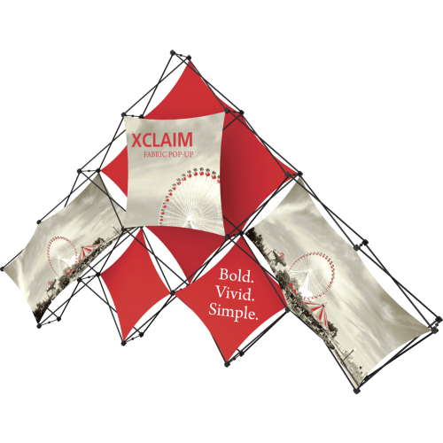 Xclaim 14ft 10 Quad Pyramid Fabric Popup Display Kit 01