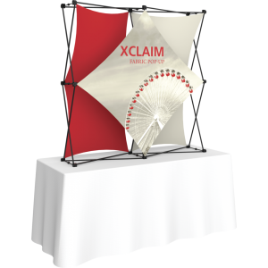 Xclaim 5ft Tabletop Fabric Popup Display Kit 02
